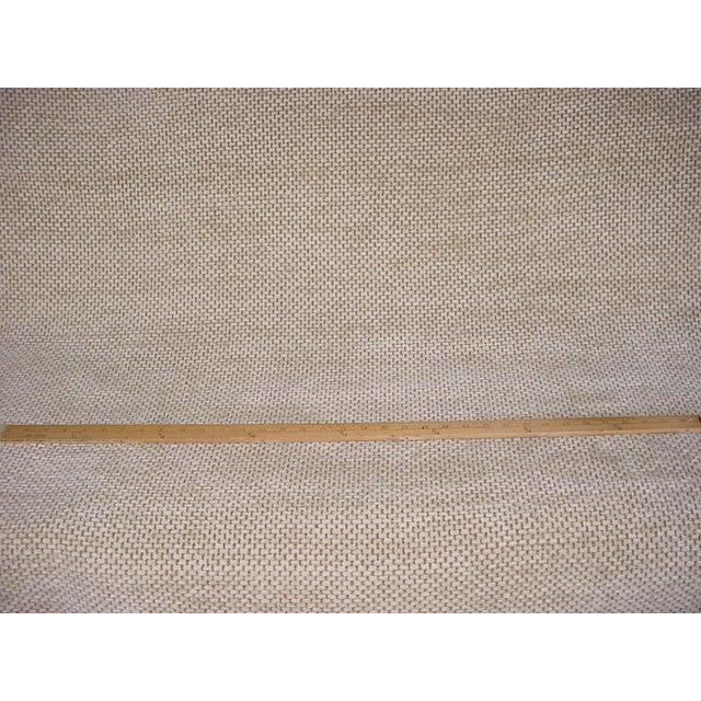Traditional Schumacher Mafalda Chamois Beige Plush Chenille Upholstery Fabric- 3 Yards For Sale - Image 3 of 5
