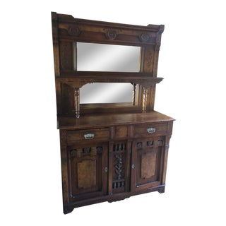 Victorian Eastlake Mirror-Back Buffet For Sale