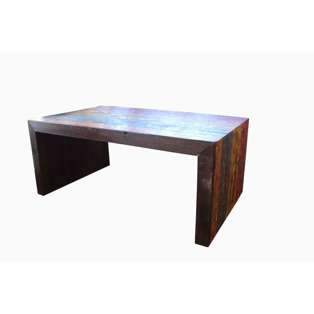 Recycled Wood Coffee Table - Image 2 of 4