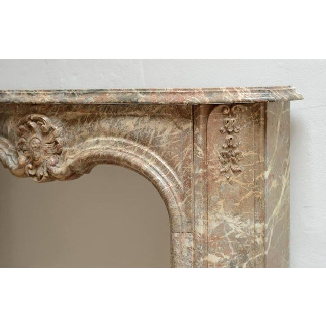 Beautiful Petite Marble Régence Style Fireplace Mantel For Sale - Image 6 of 10
