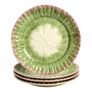 Green Fitz & Floyd Asparagus Salad Plate - Set of 4 For Sale