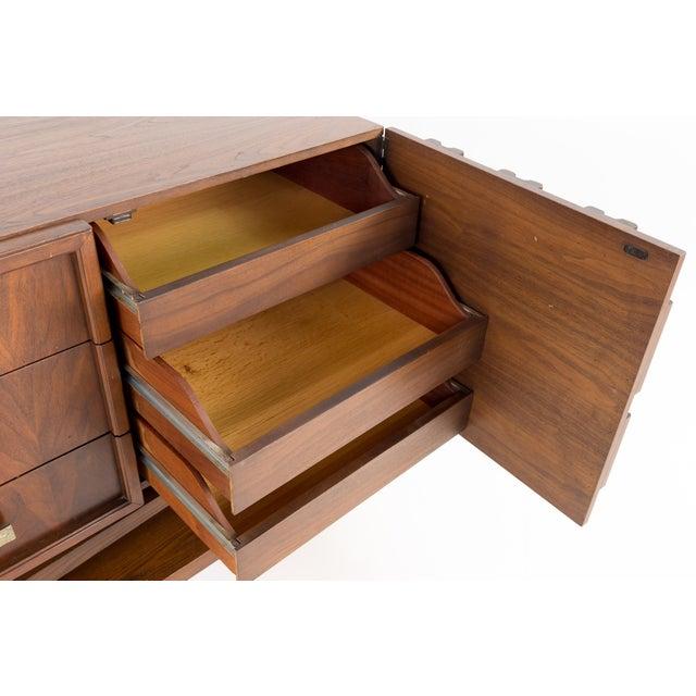 Wood 20th Century Brutalist Pedestal Lowboy Dresser For Sale - Image 7 of 12