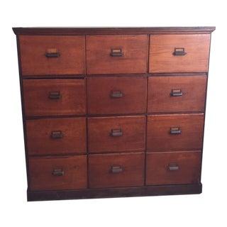 19th C. File Cabinet For Sale