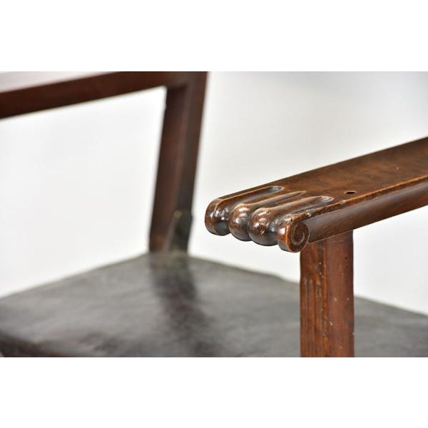 17th C. Spanish Renaissance Friar Chair For Sale - Image 4 of 13