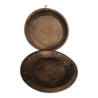 Antique Turkish Wood Bowls - a Pair For Sale