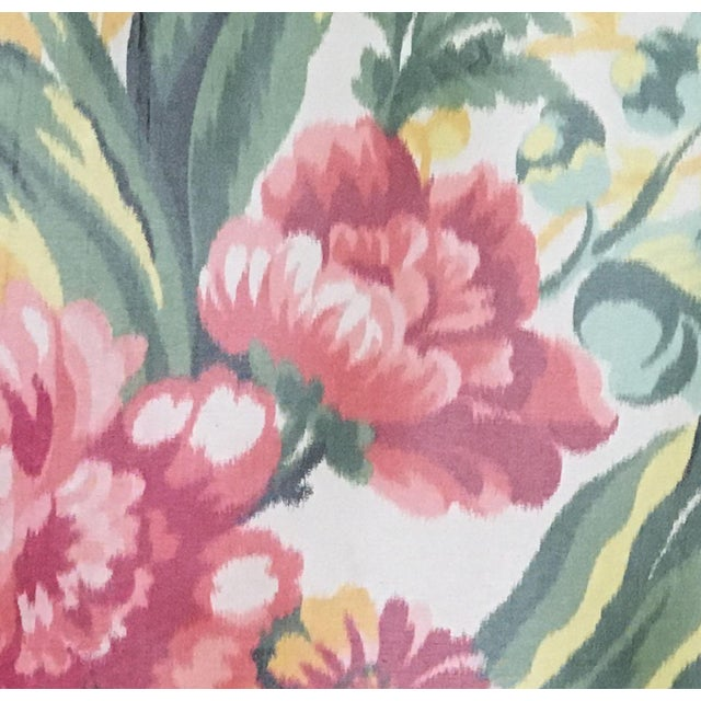 2000s Moving Sale - Make an Offer - Everything Must Go - Silk Floral Taffeta Fabric - 1.5+ Yards For Sale - Image 5 of 5