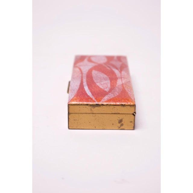 1950s Mid-Century Modern Enamel and Brass Cigarette Holder / Trinket Box For Sale - Image 5 of 10