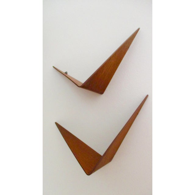 Poul Cadovius Cado Butterfly Teak Wood Shelves - Set of 2 For Sale - Image 13 of 13