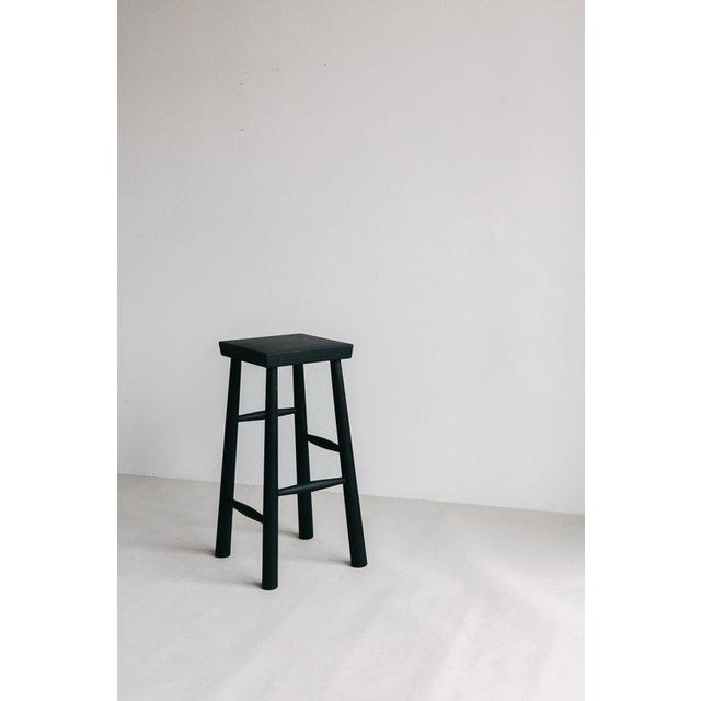 Modern Graduated Rung Stool by Blackcreek Mercantile Trading & Co. For Sale - Image 3 of 3