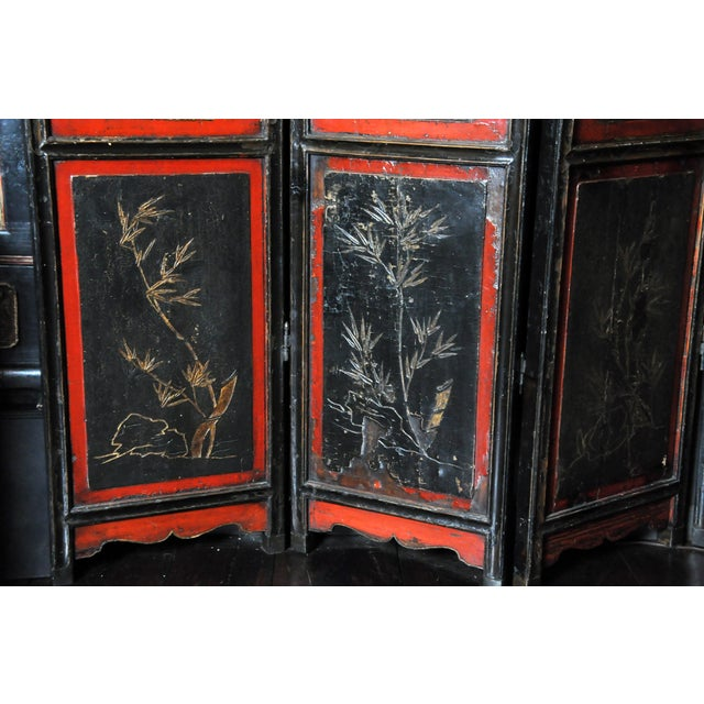 Chinese Eight-Panel Floor Screen For Sale - Image 4 of 13