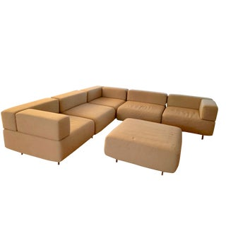 1970s Vintage Harvey Probber 7-Piece Beige Cubo Sectional For Sale
