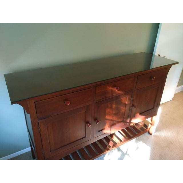 Cherry Wood Ethan Allen American Impressions Cherry Buffet For Sale - Image 7 of 8