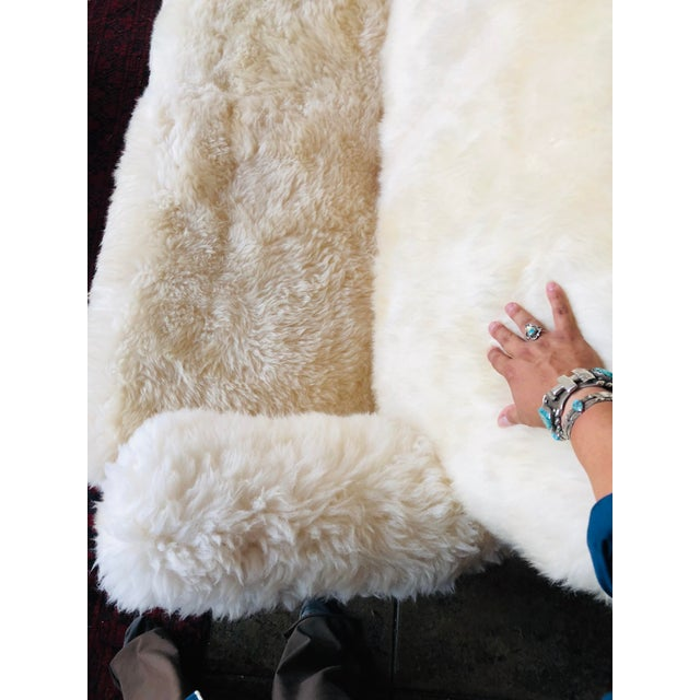 White White Mongolian Wool Sofa For Sale - Image 8 of 13