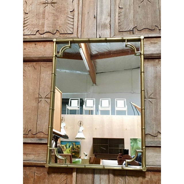 Italian Faux Bamboo Framed Mirror For Sale - Image 9 of 11