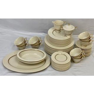 Vintage Lenox Cretan 12 Place Setting Dinnerware and Serveware Set - 65 Pieces Preview