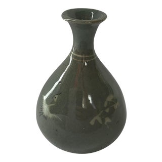 Vintage Celadon Vase For Sale