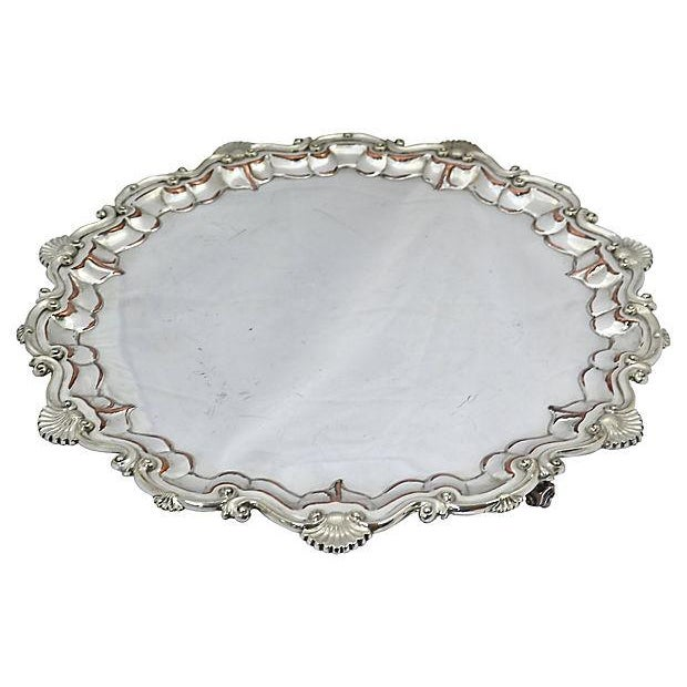 Oversize English Silver-Plate Salver - Image 2 of 5