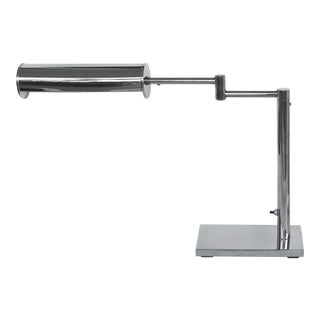 Mid-Century Modern Nessen Chrome Adjustable Arm Table/Desk Lamp For Sale
