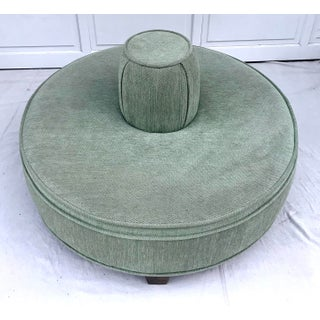 Vintage Mid Century Upholstered Round Borne Settee Preview