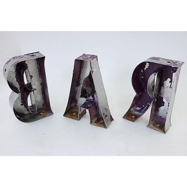"""Vintage English """"Bar"""" Marquee Letters - Image 4 of 4"""
