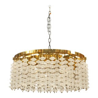 Italian Brass and Glass Bubble Chandeliers For Sale