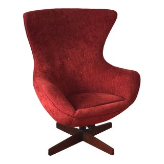 Mid-Century Modern Adrian Pearsall for Craft Associates Swivel Egg Lounge Chair For Sale