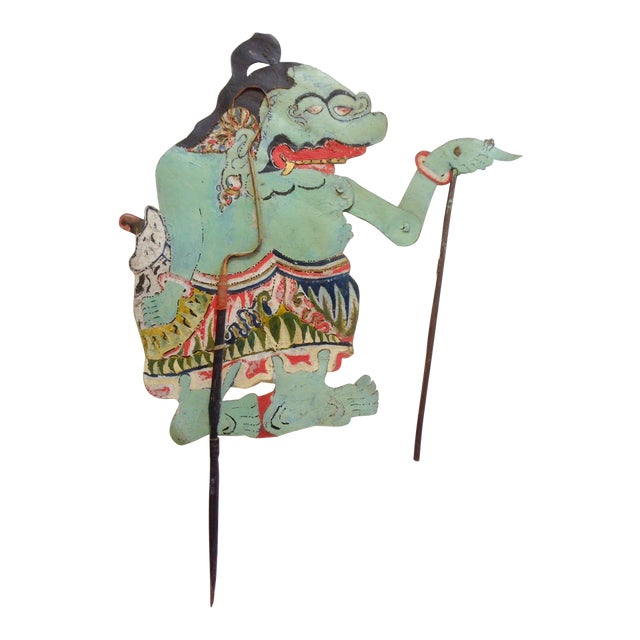 Indonesian Shadow Puppet, Wayang Kulit, Punokawan For Sale