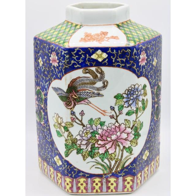 Large Antique Chinese Enamel Ceramic Vase For Sale - Image 13 of 13