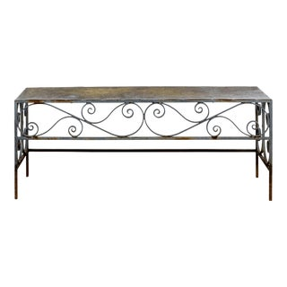 Scrollwork Wrought Iron Bench For Sale