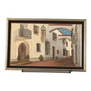 Mediterranean Cityscape Original Painting For Sale