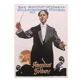 1927 German Art Deco Fashion Poster, Amandus Fedder