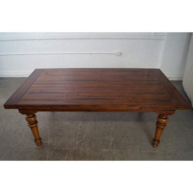 Rustic Farmhouse Style Refractory Dining Table - Image 4 of 10