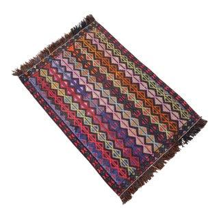 Hand-Woven Turkish KilimRug - 1′8″ X 2′4″ For Sale