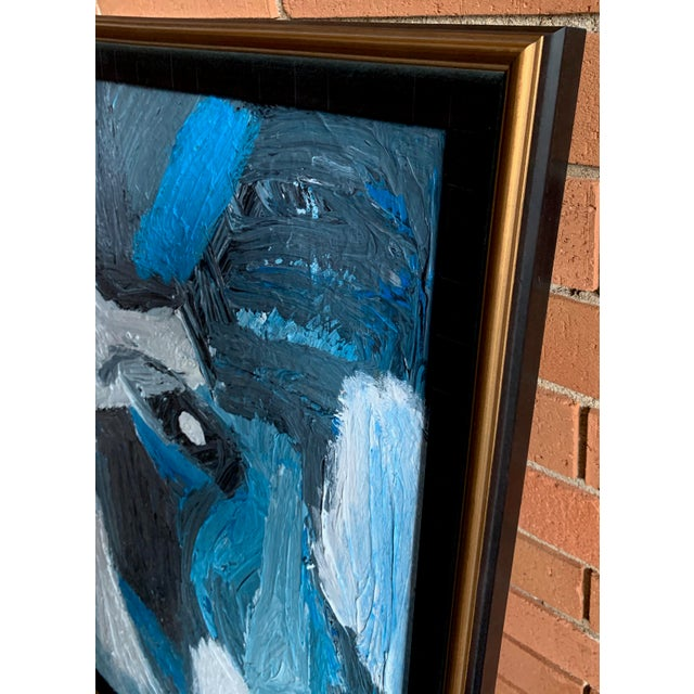 Vintage Mid Century Modern Abstract Head Portrait Oil Painting by Edelman For Sale - Image 4 of 11