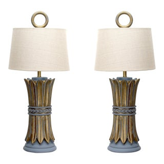Pair Mid-Century Hollywood Regency Table Lamps For Sale