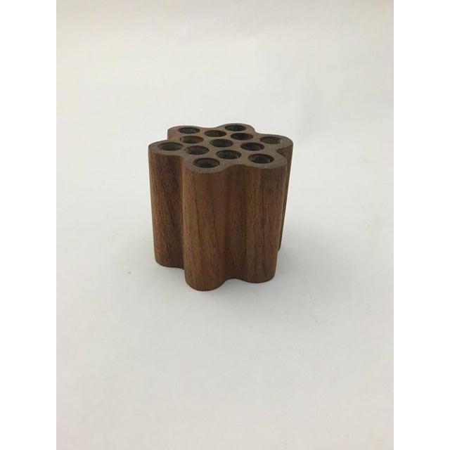 Wood Bonniers Sweden Teak Pen or Pencil Holder For Sale - Image 7 of 9