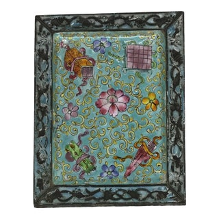 19th Century Chinese Cloisonné Plaque For Sale