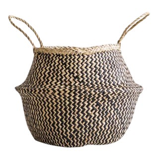 Small Sea Grass Belly Basket For Sale