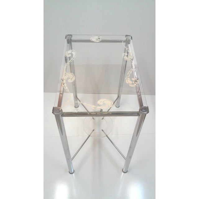Chrome and Lucite Side Table - Image 4 of 7