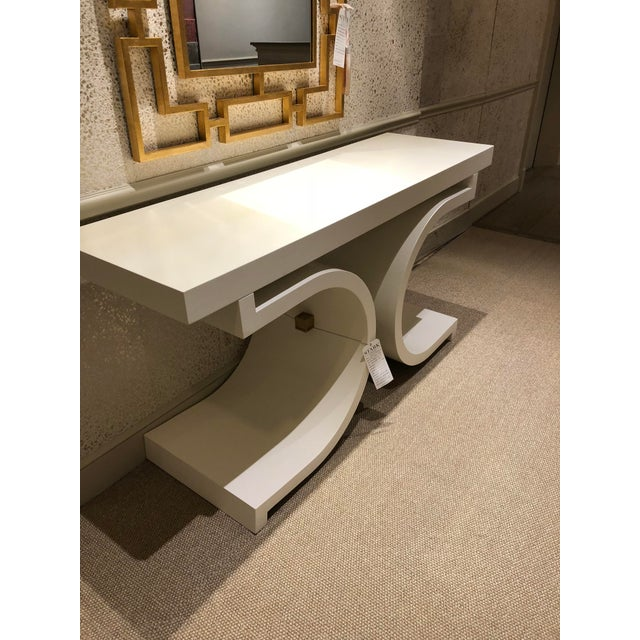 Contemporary Scalamandre Linley Console Table For Sale - Image 3 of 4