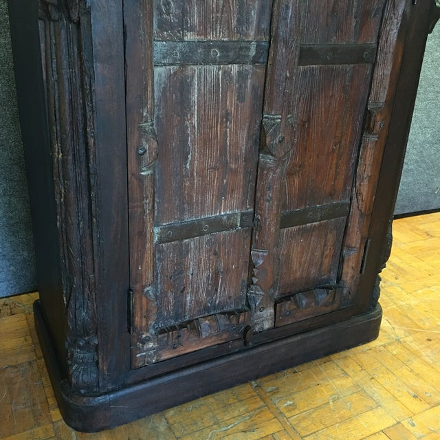 Handcrafted Tall Wooden Armoire by Buena Vista - Image 6 of 11