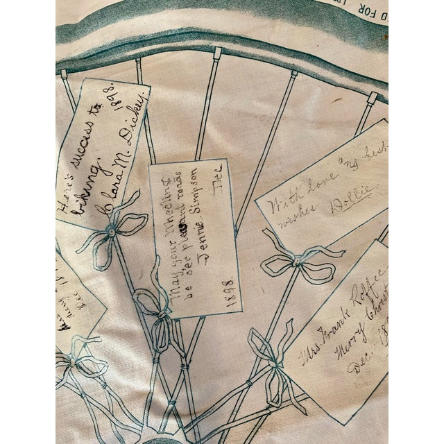 1800s Bicycle Hand Signed Pillow Print For Sale - Image 6 of 11