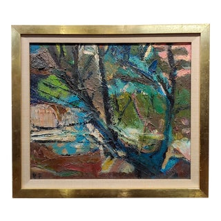 Robert Frame Tree in Landscape Oil Painting For Sale