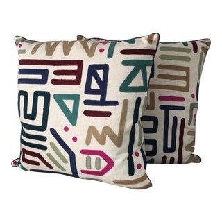 """""""Rain Dance"""" Ryan Studio Pillows - a Pair"""