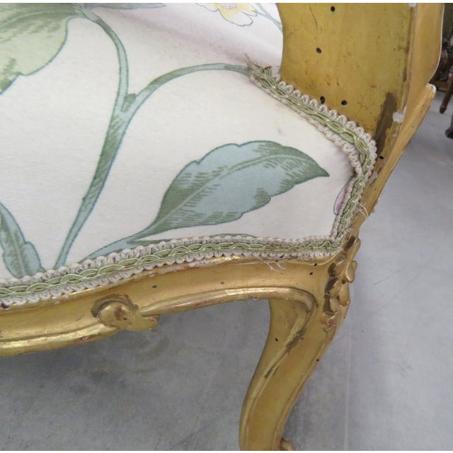 Antique French Gilt Carved Settee - Image 5 of 5