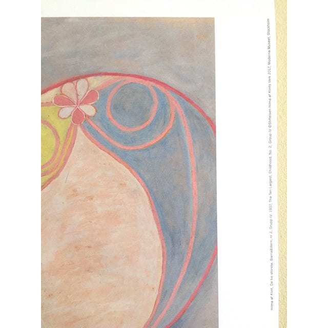 """Hilma Af Klint Swedish Abstract Lithograph Print Moderna Museet Exhibition Poster """" the Ten Largest, Childhood No.2 Group IV """" 1907 For Sale - Image 9 of 11"""