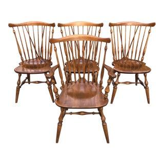 Vintage Ethan Allen Fiddleback Windsor Chairs-Set of 4 For Sale