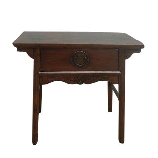 One Drawer Antique Console Table