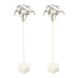 Pair of Vintage Palm Tree Floor Lamps For Sale