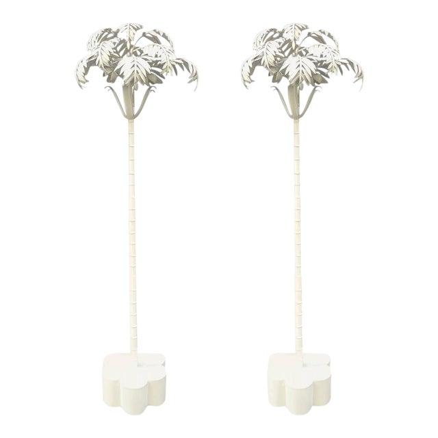Luxury Pair of Vintage Palm Tree Floor Lamps | DECASO